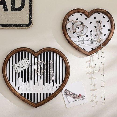 The Emily + Meritt Heart Wall Pinboards Set of 2