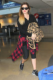 Khloé Kardashian arrived at LAX on Saturday after her trip to NYC.