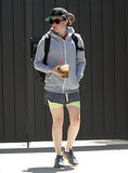 Ellen Page fit in a workout in LA on Friday.