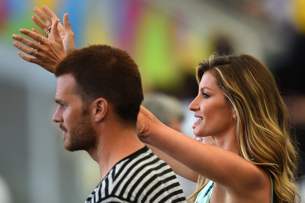 Gisele Bündchen cheered throughout the game.