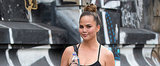 Chrissy Teigen Takes Her Business Bun to the Gym