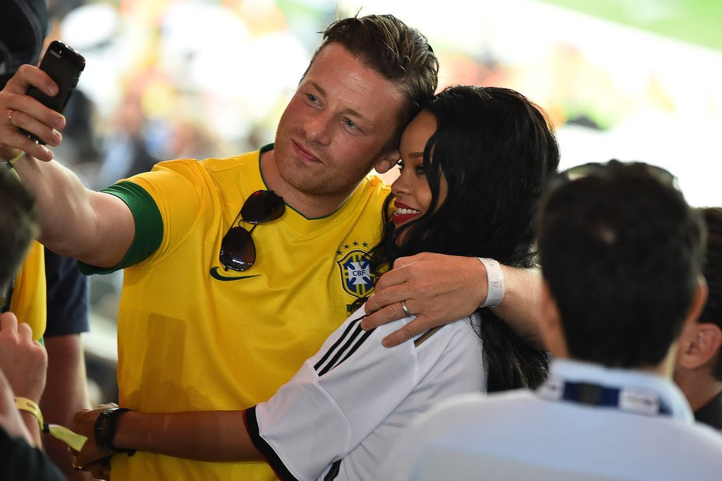 Next, She Took Selfies With Jamie Oliver . . .