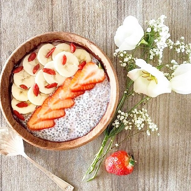 Top your pudding with banana for an extra dose of potassium, which can be especially important after a tough workout. Source: Instagram user stylerunner