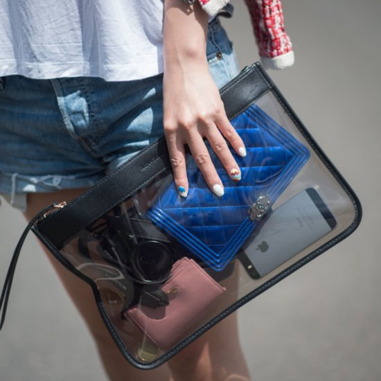 Fashion Week 2014 Street Style Nail Polish and Clutch Bags