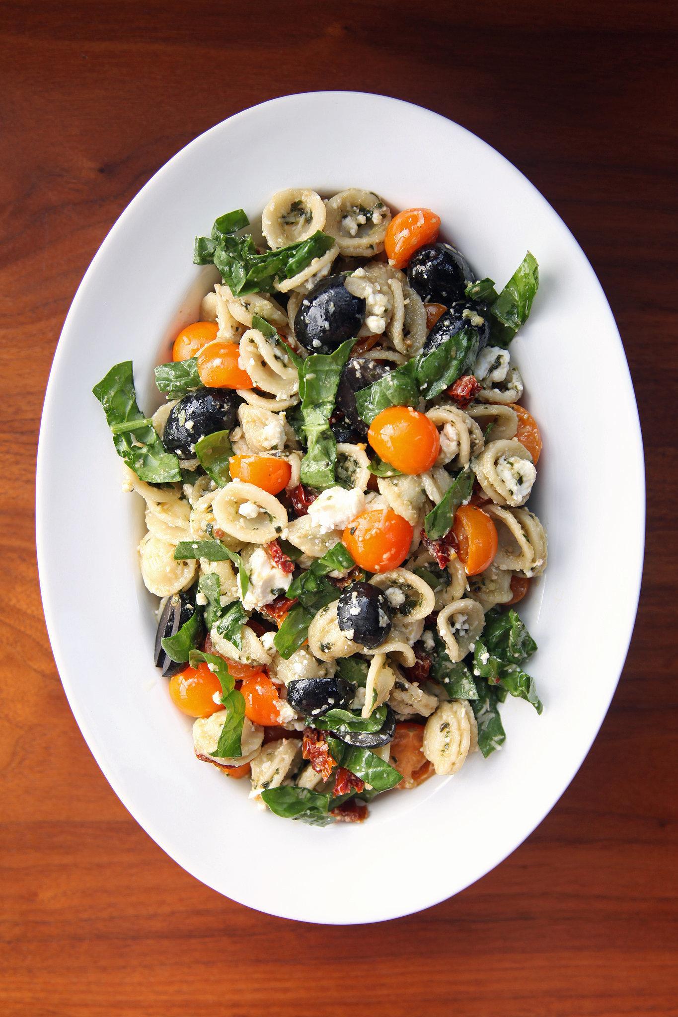 Pesto Pasta Salad Recipe   POPSUGAR Food