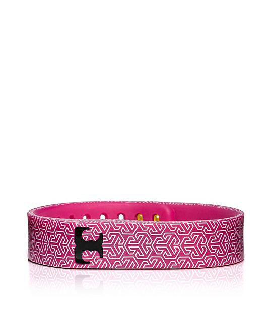 Tory Burch For Fitbit Silicone Pink Printed Bracelet ($38)
