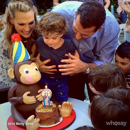 Molly Sims's son Brooks went bananas for his Curious George-themed party. Sims even hired a life-size George to come hang out.  Source: Instagram user mollybsims
