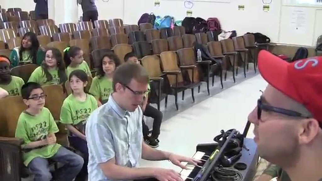 His music sounds even better when he sings it with a kids' choir.