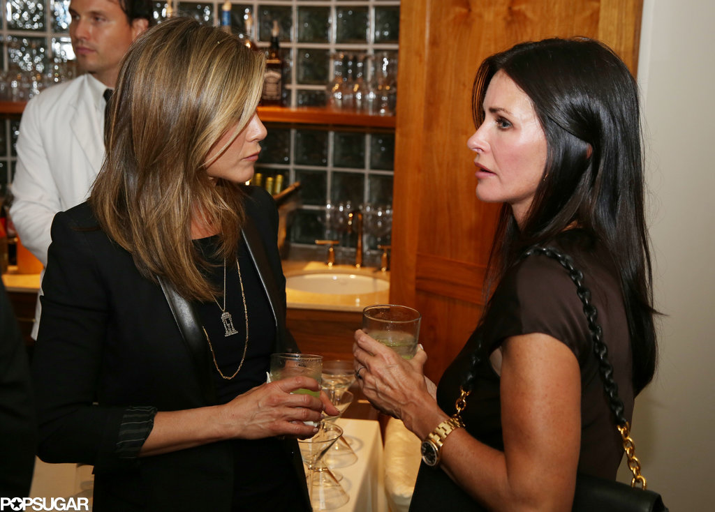 Jennifer Aniston and Courteney Cox Do a Double Date Night