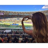 Gisele Bündchen showed her support at the World Cup. Source: Instagram user giseleofficial