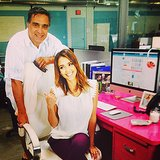 Jessica Alba brought her dad, Mark, to work with her. Source: Instagram user jessicaalba