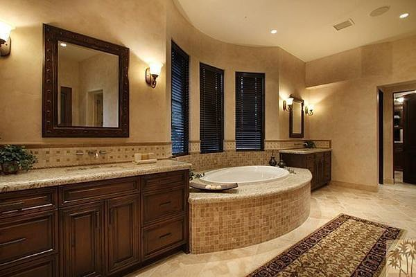 A large tub is ideal for long soaks.  Source: Realtor.com