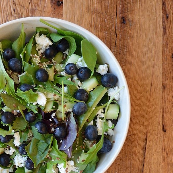 Blueberries add a pop of color and a bit of sweet to a standard salad, plus they're full of antioxidants. Source: Instagram user sweetgreen