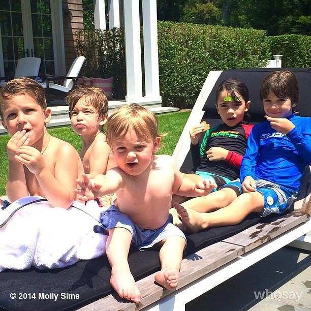 Brooks Stuber hung out with his boys in the Hamptons. Source: Instagram user mollybsims