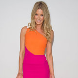 Jennifer Hawkins in Pink and Orange Rouland Mouret Dress