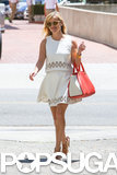Reese Witherspoon walked around LA in a white dress on Thursday.