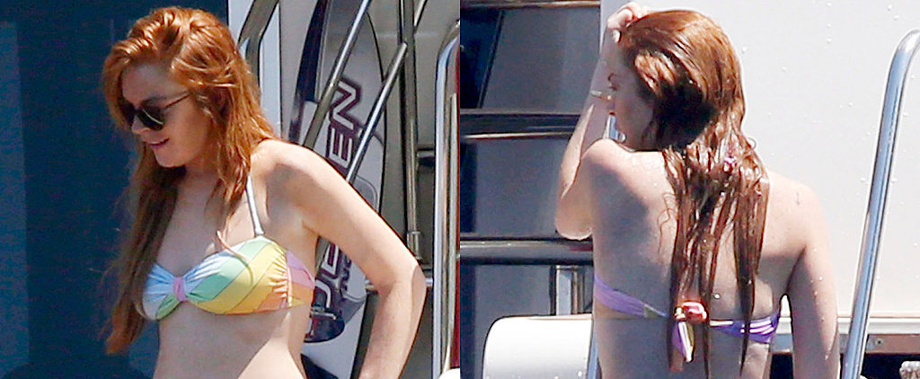 Lindsay Lohan Lounges in a Bikini Before Her Big Stage Debut