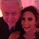 "Demi Lovato looked starstruck when she posed for a snap with former President Bill Clinton at the Unite4:Humanity Gala in February 2014. ""Too excited to filter this... NO BIG DEAL - #Selfieswiththeprez.... Bill Clinton - so nice to meet you!!!!"" she wrote in the caption. Source: Instagram user ddlovato"