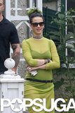 Katy Perry's green dress matched her hair in Toronto on Sunday.