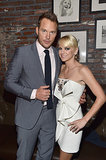 Anna Faris and Chris Pratt stayed close at the Guardians of the Galaxy afterparty in LA on Monday.
