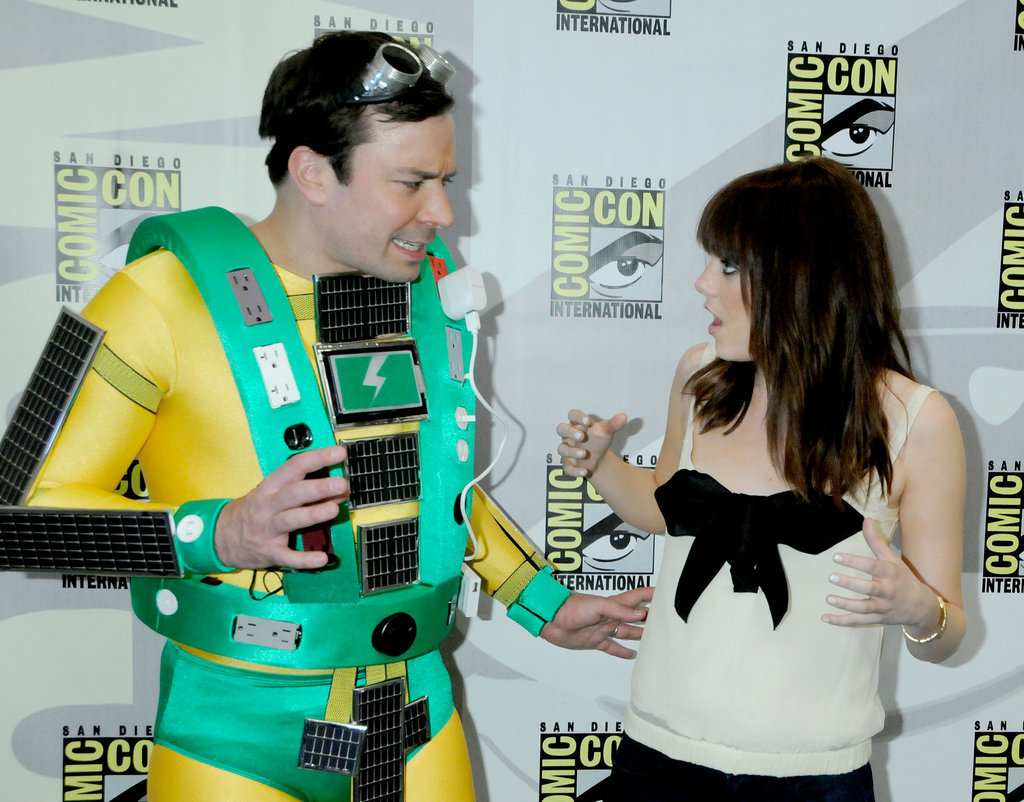 Jimmy Fallon and Emma Stone had a cute red carpet moment during the 2009 convention.