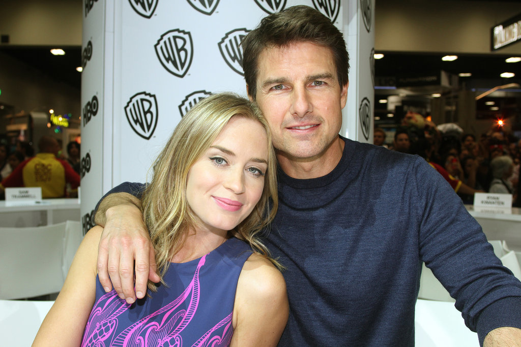 Emily Blunt and Tom Cruise shared a sweet moment while in the Warner Bros. booth to promote Edge of Tomorrow in 2013.
