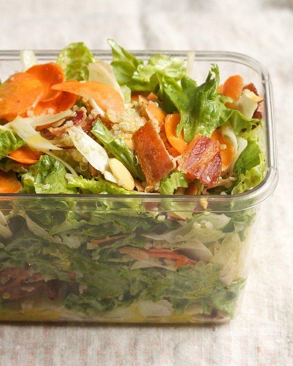 Quinoa, Avocado, and Apple Salad With Crispy Bacon