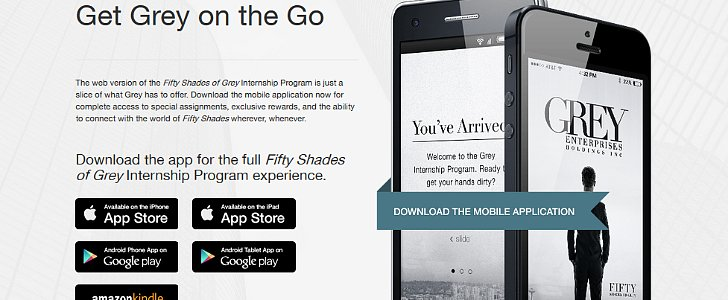 The Fifty Shades of Grey App Is Here!