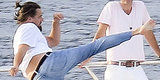 Leo Does Karate On A Yacht. Don't Question It.