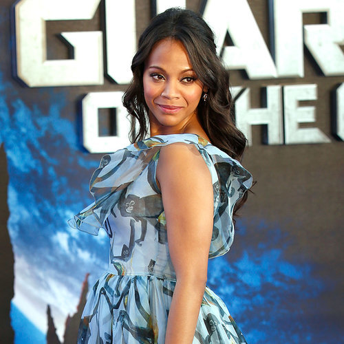 Zoe Saldana Shows Off Her Baby Bump in London