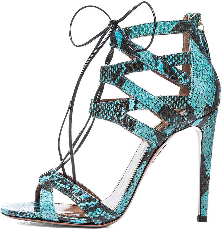 Aquazzura Snakeskin Heels
