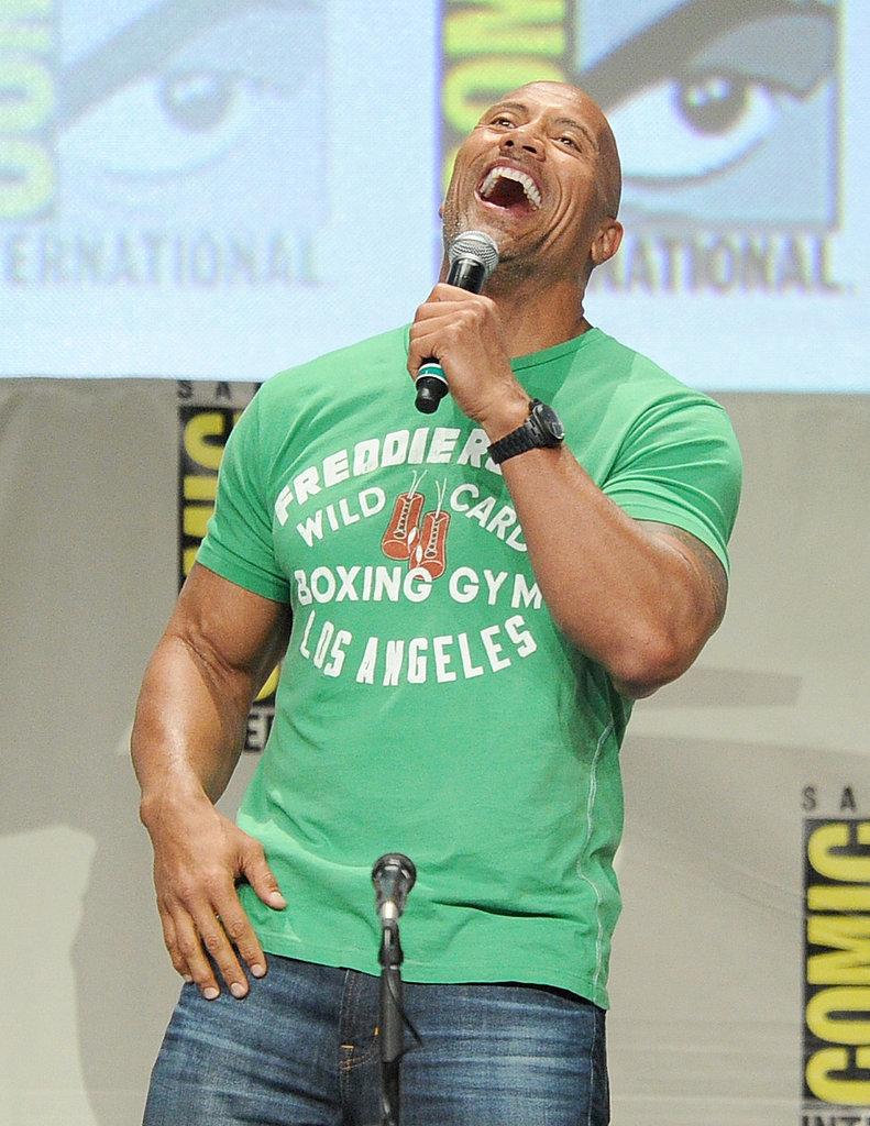 "Dwayne ""The Rock"" Johnson had a blast on stage on Thursday."