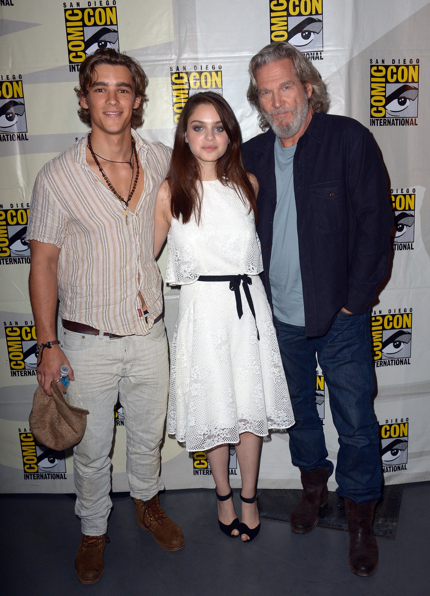 The Giver's Brenton Thwaites, Odeya Rush, and Jeff Bridges came together on Thursday.
