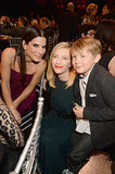 Sandra mingled with Cate Blanchett and her son, Ignatius Upton, during the Critics' Choice Movie Awards in January 2014.