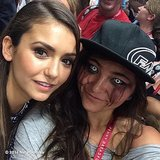 "Nina Dobrev said this fan's dramatic appearance was ""DOPE."" Source: Instagram user ninadobrev"