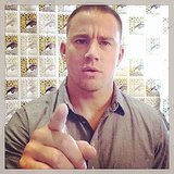 Channing Tatum had a serious moment backstage.  Source: Instagram user channingtatum