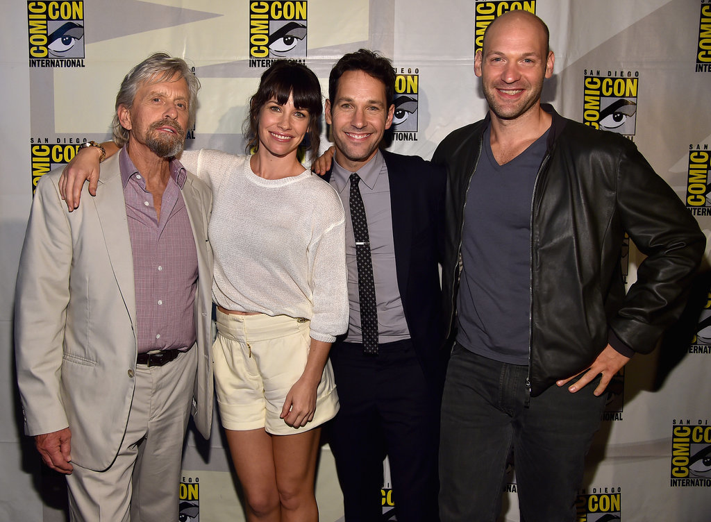 Michael Douglas, Evangeline Lilly, Paul Rudd, and Corey Stoll promoted Ant-Man together on Saturday.