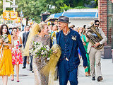Piper Perabo Marries in a Scaly Frock While Husband Rocks a Soul Patch