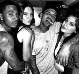 Kendall Jenner, Kylie Jenner Party with Chris Brown, Trey Songz, Cozy up for Picture at House Party