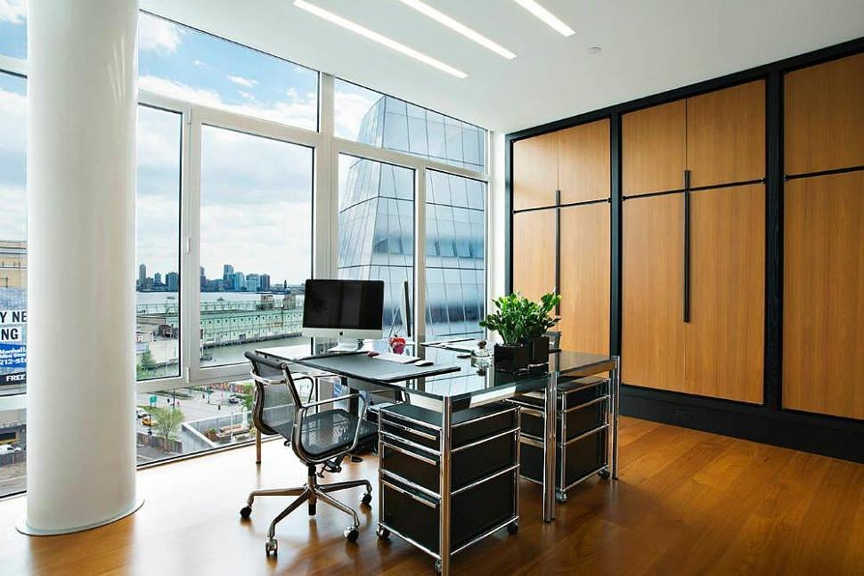 This office space could easily double as a playroom.  Source: Town Real Estate