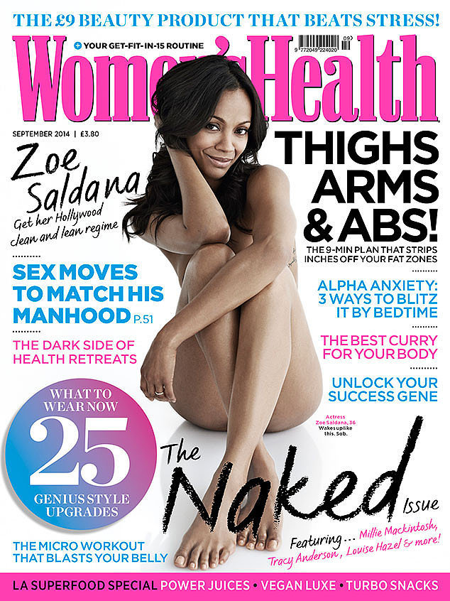 Zoe Saldana For Women's Health UK, September 2014