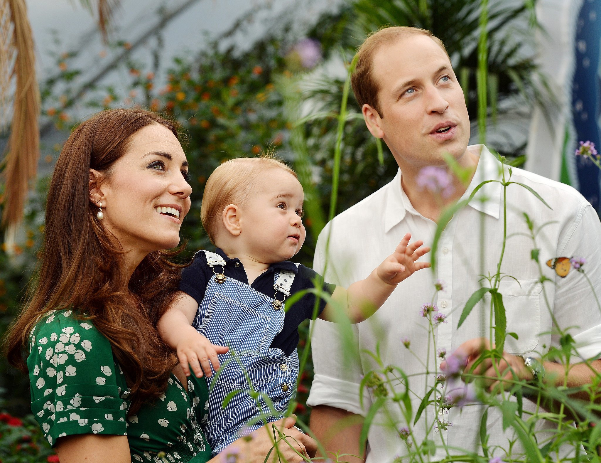 Prince William and Kate Middleton posed with Prince George in 2014.