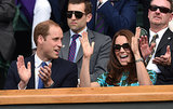 The couple cheered during Wimbledon in 2014.