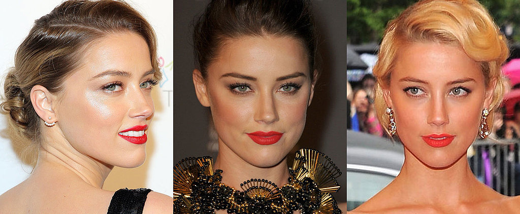 12 Times Amber Heard Proved a Bright Lip Is Her Best Accessory