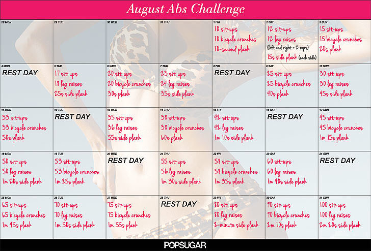 Go Back > Gallery For > August Fitness Challenge