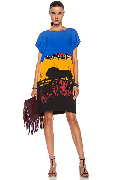 DVF Safari Landscape Dress