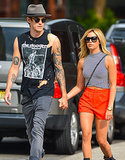 Ashley Tisdale and her fiancé, Christopher French, held hands on the streets of NYC on Wednesday.