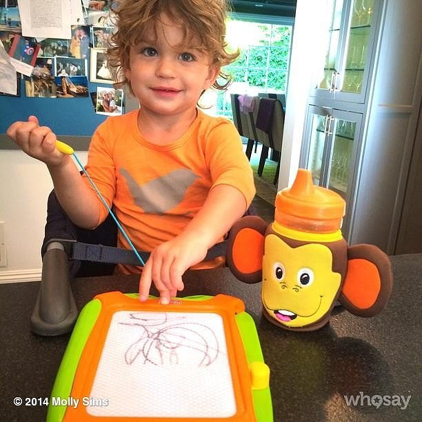 Molly Sims's son Brooks showed off his artistic talents.  Source: Instagram user mollybsims