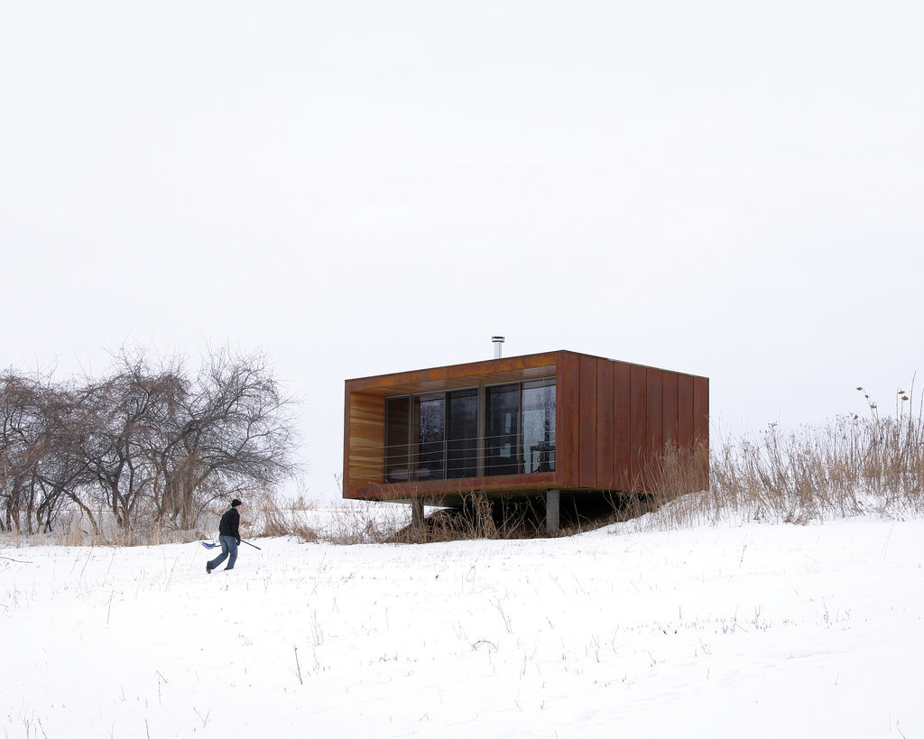 "Noted as the ""iconic"" weeHouse, the Arado home cost only $60,000 to build. This miniature dwelling is a testament to the durability of tiny homes, easily enduring Wisconsin's frigid winters and hot summers."