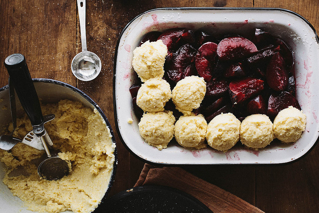 Ginger Plum Cobbler